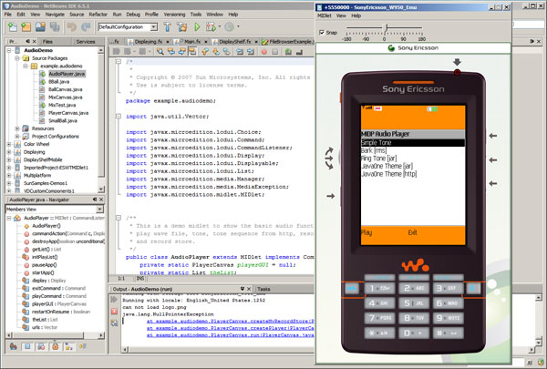 Sony Ericsson SDK 2.5 for Java ME