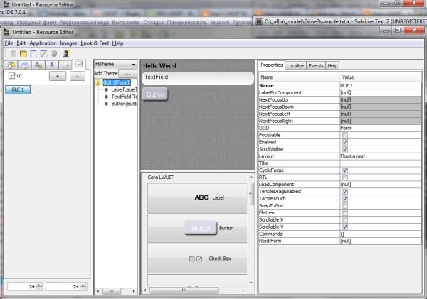 LWUIT GUI Builder