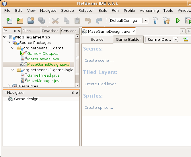 NetBeans Game Builder