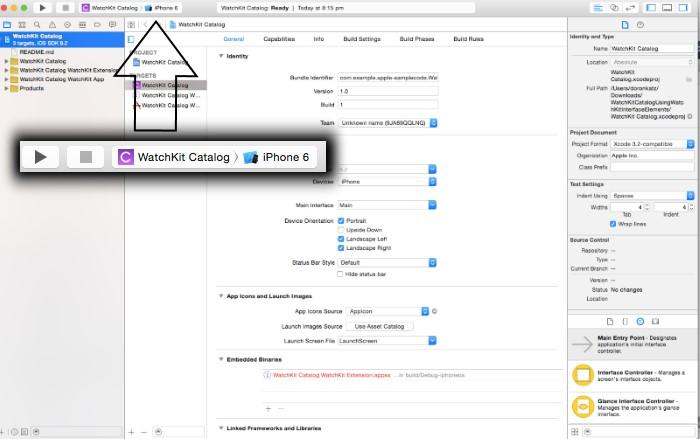 Apple Watch приложение в Xcode