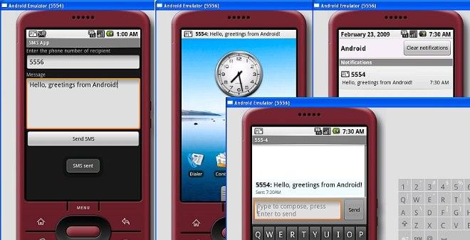 Отправка sms в эмуляторе