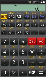 RealCalc интерфейс калькулятора